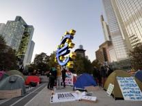Demonstration gegen die Macht der Finanzmaerkte