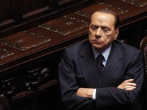 Italy's Prime Minister Silvio Berlusconi attends a session at the Parliament in Rome