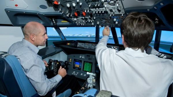 Hubschrauber Simulator Cockpit