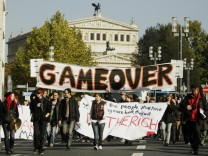 Demonstration der 'Occupy Frankfurt'-Bewegung