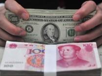 Chinesiche Yuan und amerikanische Dollar