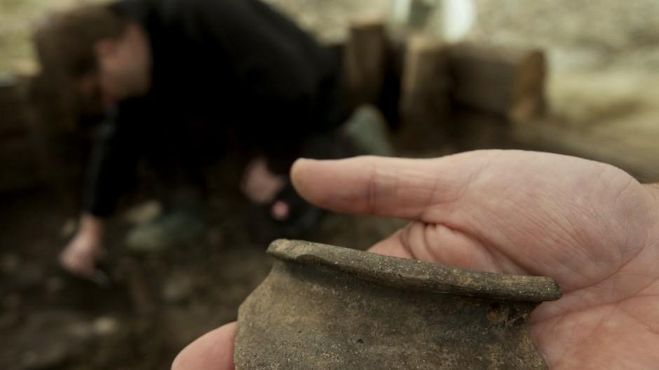 Ausgrabungen auf dem Marienhof in Muenchen