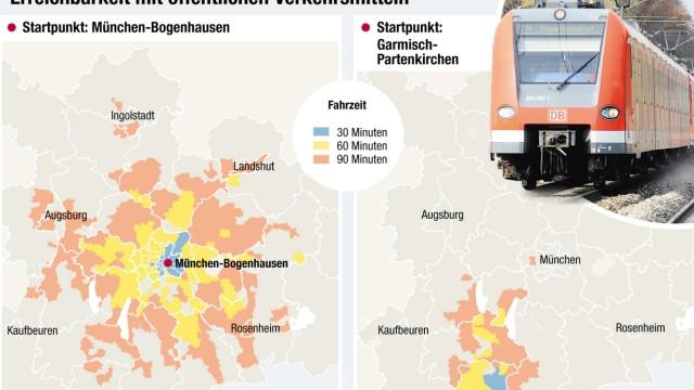 Erreichbarkeitsatlas Der Region München Gute Verbindung