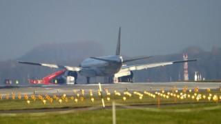 Flugzeug in Muenchen von Landebahn abgekommen