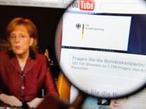 Youtube-Nutzer richten rund 1.700 Fragen an die Bundeskanzlerin
