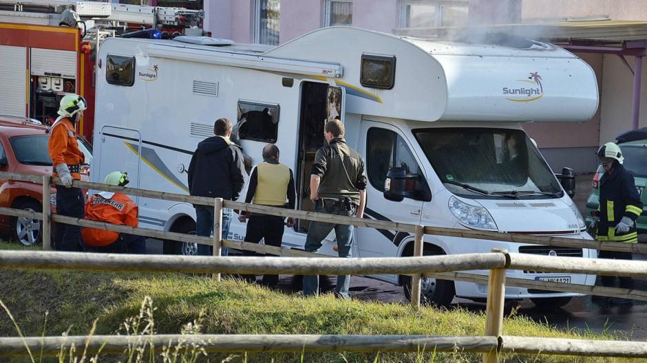 Zwei Leichen in einem Wohnmobil gefunden