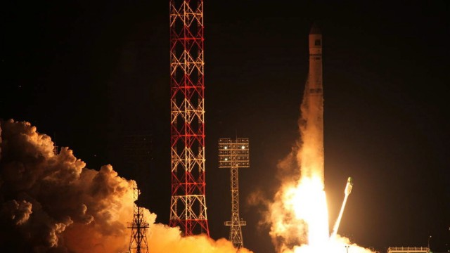 Russian Zenit-2 vehicle carrying the Phobos-Grunt probe  blasting