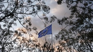 An European Union flag flutters on the day marking the start of Spain's presidency of the EU, in the Andalusian capital of Seville