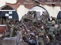 Spurensuche in explodiertem Haus in Zwickau