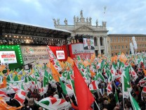 Italian Democratic Party Demonstration in Rome