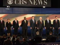 Jon Huntsman, Michele Bachmann, Ron Paul, Herman Cain, Mitt Romney, Newt Gingrich, Rick Perry, Rick Santorum