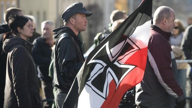 Demonstration von Rechtsextremen in Wunsiedel