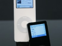 File photo of Apple unveiling new digital music player iPod Nano at news conference in Tokyo