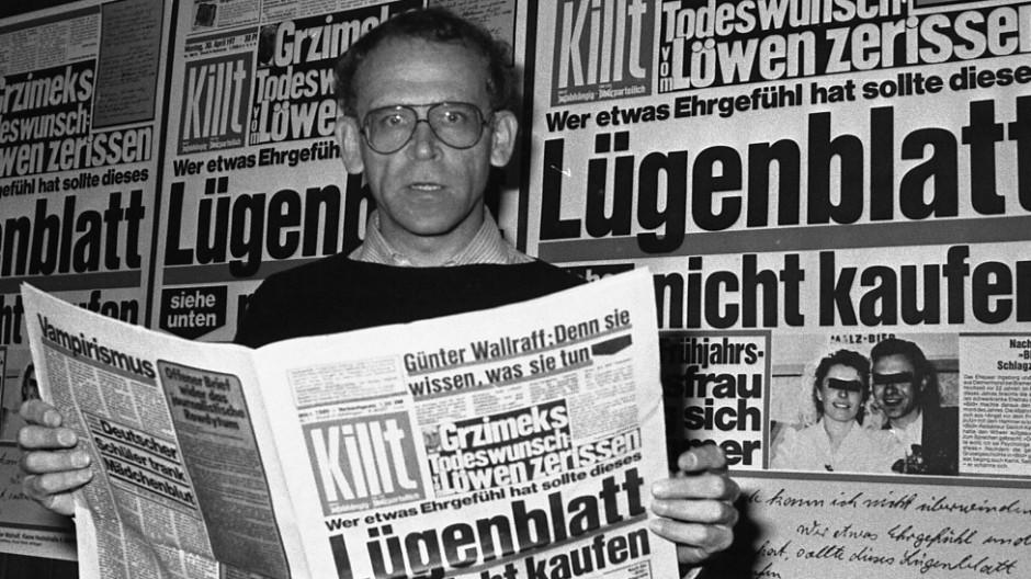 """Günter Wallraff Wallraff und die """"Bild""""-Zeitung"""