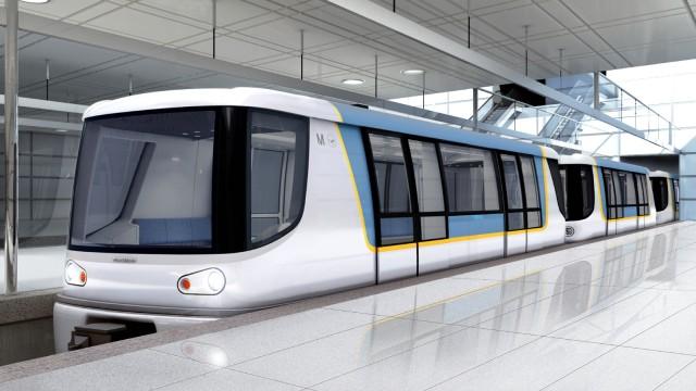 Flughafen München Neue Mini-U-Bahn am Flughafen