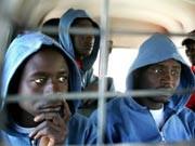 Afrikanische Elendsflüchtlinge, Foto: dpa