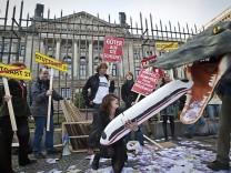Proteste vor dem Bundestag gegen Stuttgart 21