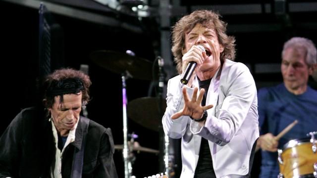 Rolling Stones starten neue Welttournee im Fenway Park in Boston, 2005