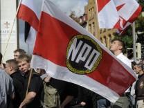 NPD-Anhänger bei einem Aufmarsch in Hannover
