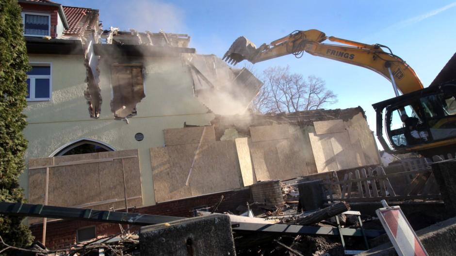 Haus der 'Zwickauer Terrorzelle' wird abgerissen
