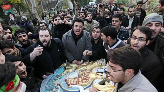Iranian Demonstrators Break In To British Embassy In Tehran