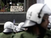 Demonstration gegen Naziaufmarsch