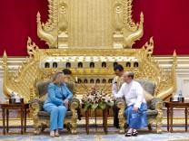 US-Außenministerin Clinton und Birmas Staatschef Thein Sein