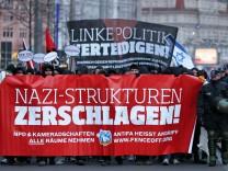 Leipziger demonstrieren gegen Neonazis