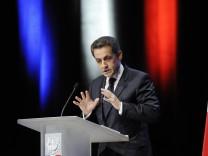 French President Nicolas Sarkozy statement on euro crisis