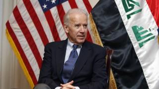 U.S. Vice President Joe Biden meets U.S. military commanders at the U.S. embassy upon his arrival in Baghdad