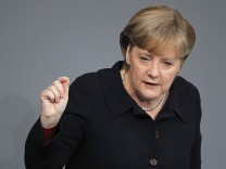 Merkel Gives Government Declaration On The Euro