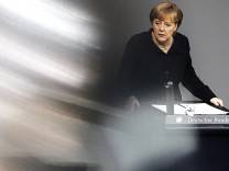 German Chancellor Merkel addresses German lower house of parliament in Berlin