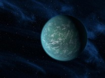 Handout picture of an artist's illustration of Kepler-22b