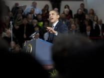 President Obama Gives An Economic Address At Kansas High School