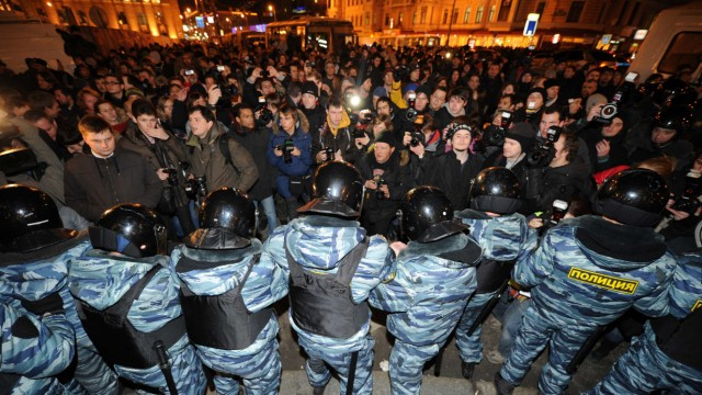 Parlamentswahl in Russland Proteste in Russland