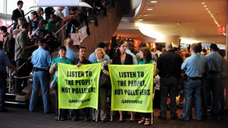 Greenpeace protest at the Climate change convention in Durban
