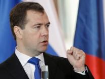 Will kommendes Jahr mit Premier Putin die Ämter tauschen: Russlands Präsident Medwedjew