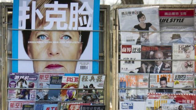 Merkel auf einem Magazin-Cover in China