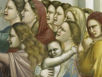 Massacre of the Innocents by Giotto di Bondone, fresco, detail
