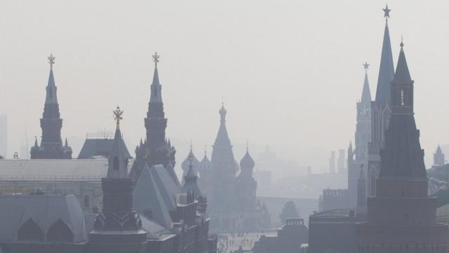 Smog und Extremhitze in Moskau