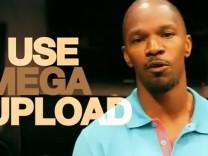 Jamie Foxx tritt in einem Werbevideo von Megaupload auf