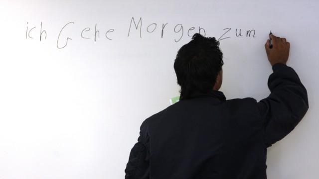 Migrant beim Sprachkurs, 2010