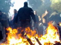 Protest gegen den Diktator: Anti-Assad-Demonstranten in Damaskus am 19. Dezember 2011