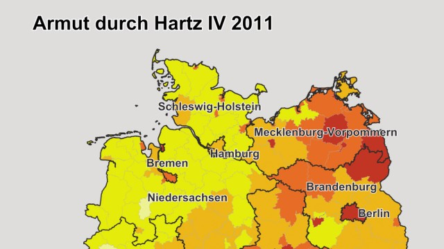 Karte Hartz IV in den Bundesländern