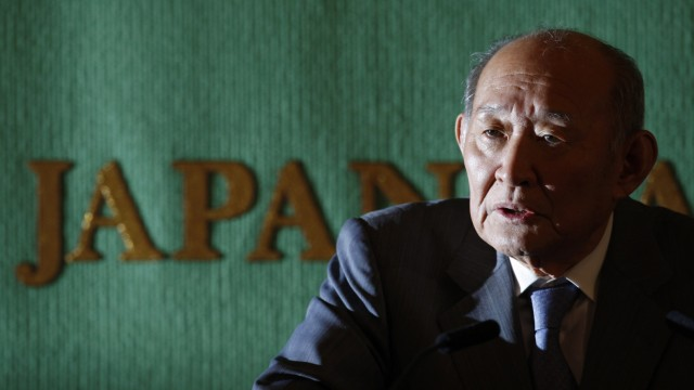Japan's Finance Minister Hirohisa Fujii speaks during a news conference in Tokyo