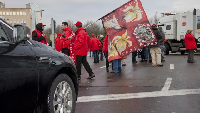 Public-sector strike  in Belgium
