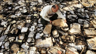 Altertum Institut d'Égypte in Kairo abgebrannt