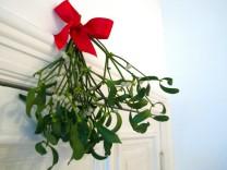 Eine alte Tradition: Mistelzweige als weihnachtliche Dekoration