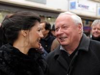 Sahra Wagenknecht und Oskar Lafontaine beim 'Heilig Morgen' in Saarlouis