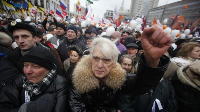Demonstrationen in Russland Massenproteste in Russland